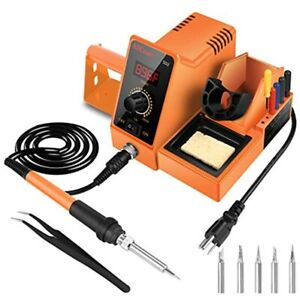 Digital Soldering Iron Station 60 watt 110 Volt 392f 896f Rapid Free Ship