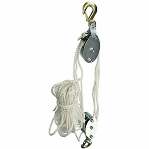 Grip 18095 2 ton Rope Pulley Hoist Home Improvement Free Ship