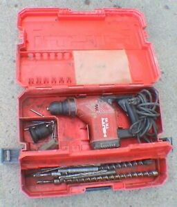 Hilti Te 15 Corded Electric Rotary Hammer Drill With Bits In Case