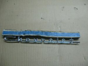 1957 Chevrolet One Fifty Two Ten Hood Or Trunk Emblem Nos