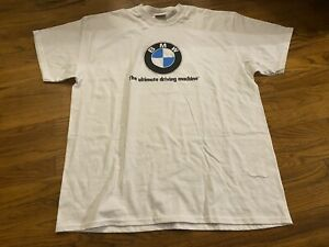 Vtg Bmw Logo Ultimate Driving Machine Xl White T shirt Lifestyle Made In Usa