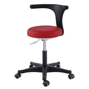 Adjustable Mobile Dental Medical Office Chair Assistant s Stool Smart Pu Leather