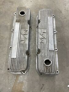 Vintage M T Holley 351c Ford Valve Covers Boss 351 103r 40b Made In Usa