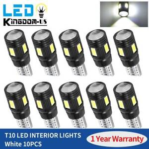 10x T10 Wedge 5630 Led Canbus Error Free Bulb For Dome Trunk Light 2825 192 194