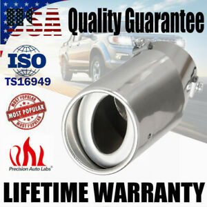 Universal Chrome Car Round Stainless Steel Rear Exhaust Tail Muffler Pipe Tip