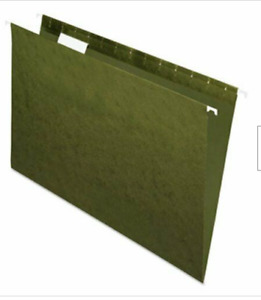 Pendaflex Hanging File Folders 1 5 Tab Legal Standard Green 25 box Open Box