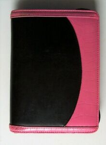 Franklin Covey 365 Compact Pink Black Planner Binder Full Zip 6 1 Rings