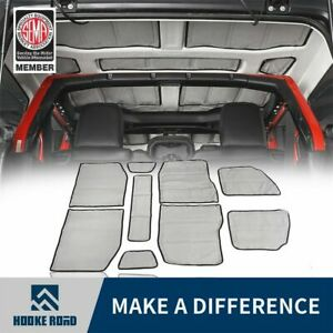 Hooke Road Hard Top Headliner Insulation Kit 4 door For 18 21 Jeep Wrangler Jl