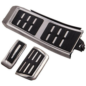 3 Pcs Car Foot Rest Fuel Brake Pedal Plate Cover Kit For Audi A4 S4 A5 A6 S5 A7