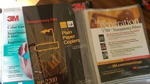 Misc 3m Transparency Film For Copiers Pp2200 188 Sheets 8 5 X 11