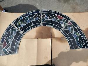 Great Medieval Mayer Of Munich Church Antique Stained Glass Arch Way X3 5 2 4