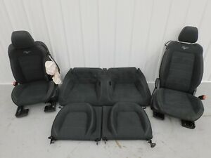 2015 2017 Ford Mustang Gt Black Cloth Seat Set Power Oem