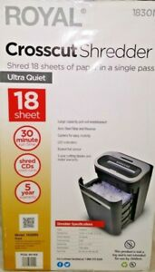 Royal 18 Sheet Cross cut Paper Shredder Heavy duty Large Capacity 1830mx