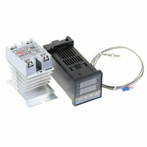 Pid Rex c100 Temperature Controller Ssr 40da K Thermocouple Heat Sink