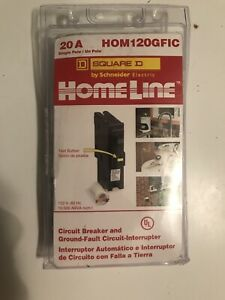Square D Homeline Hom120gfic 20a Single Pole Circuit Breaker Gfci