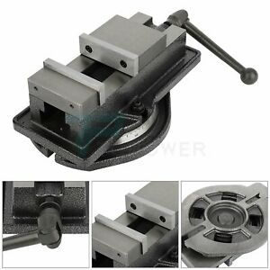 Bench Vise Drill Press Vice 4inch Table Clamp Swivel Base Milling Mechanic Metal