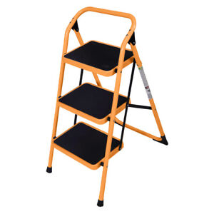 Practical 3 Step Ladder Folding Non Slip Safety Tread Heavy Duty 330lbs Load