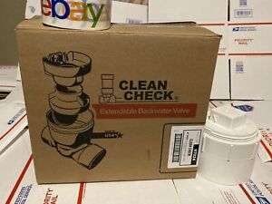 Rectorseal 97024 4in Pvc Clean Check Extendable Backwater Valve W Cleanout