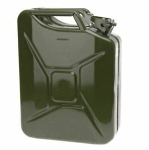 New 20l Jerry Metal Military Can For Petrol Diesel Oil Fuel Water Container Uk
