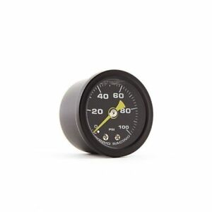 Hybrid Racing Liquid Filled Fuel Pressure Gauge 0 100 Psi hyb fpg 01 02
