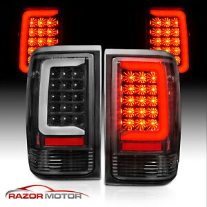 For 1993 1997 Ford Ranger Black Housing C Bar Led Replacement Taillights Pair
