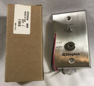 Tyco Simplex Grinnell 2098 9806 Remote Fire Alarm Indicator Test Key Switch