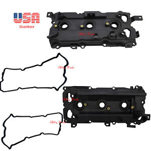 2 Engine Valve Cover W Gasket Right Left Side Fit Infinity Nissan Code Vq35hr