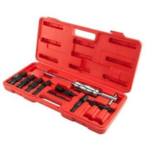 9 Pc Blind Inner Bearing Puller Kit Internal Slide Hammer Remover Red Case