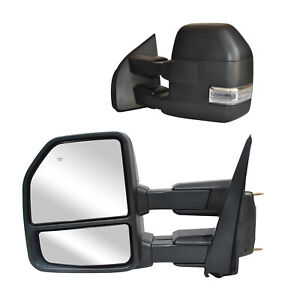 Towing Mirrors For 2015 2020 Ford F 150 Power Heated Signal W Sensor Extendable