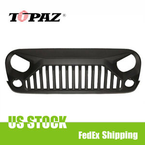 New For 2007 2018 Jeep Wrangler Jk Front Bumper Grille Grill Angry Bird