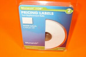 Monarch 1136 2 line Pricing Labels Two Replacement Rolls