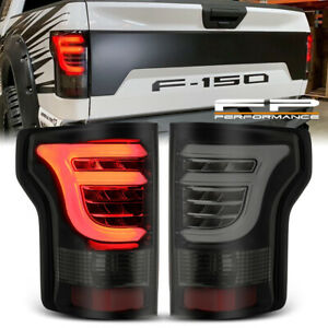 For 15 20 Ford F150 Alpharex Pro Series Led Tail Lights Black Housing Smoke Lens