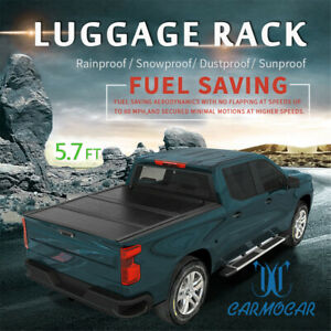 5 7ft Tri fold Waterproof Bed Hard Tonneau Cover Fit For 2009 18 Dodge Ram 1500
