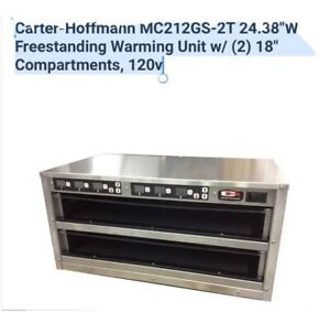 Carter hoffmann Mc212gs 2t Stainless Steel Countertop Heated Holding Cabinet