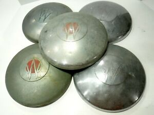Lot Of 5 Vintage 1948 To 1950 Willy s Jeepster Original Hub Caps h2