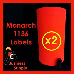Red Labels For Monarch 1136 Price Gun 2 Sleeves Made In Usa Ink Included