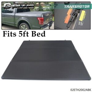 Lock Tri Fold Hard Tonneau Cover For 16 18 Toyota Tacoma Pickup 5ft Short Bed