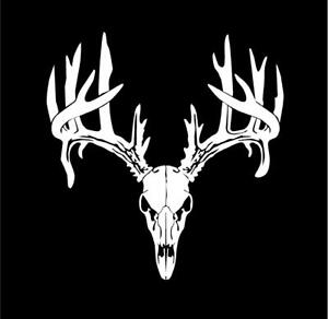Deer Buck Antlers Skull Hunting Car Sticker Truck Window Bumper Vinyl Graphic