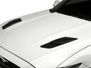 Mmd Hood Vent Scoops In Matte Black Styling Fits Ford Mustang 2015 2017 Gt