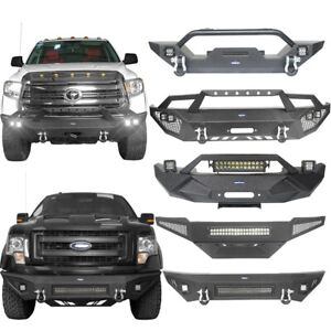 Hooke Road Steel Front Bumpers Fit Jeep Wrangler Toyota Tacoma Tundra Ford F150