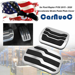 2pcs Fit For Ford F 150 2015 2019 Car Pedal Automatic At Gas Brake Cover Pad Set