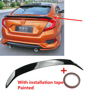 Thailand Style Gloss Black Trunk Spoiler Wing Fit For 16 21 Honda Civic Sedan