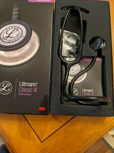 3m Littmann Classic Iii Monitoring Stethoscope Rainbow finish Chestpiece Black