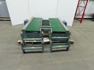 Hytrol Twin 18x 72 Powered Chain Roller Pallet Conveyor W lift Chain Transfer