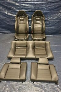2014 Ford Mustang Gt Coyote 5 0 V8 Oem Recaro Leather Front Rear Seats 1255