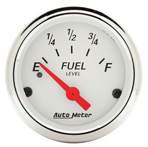 Autometer Arctic White 2 1 16 Fuel Level 240 33 Ohm Gauge New