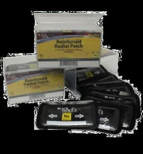 Black Jack Tire Repair Reinforced Radial Patch Rect ra 012 2 3 4 X 4 1 2 Pk 15