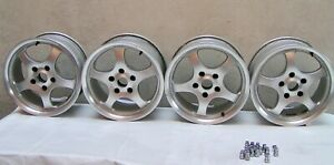 Set Of 4 Borbet Alloy Wheels For Jaguar Xj6 Xjs Xj12 And Rwd Gm Cars 65 15