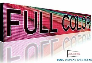 Shop Open Led Sign 25 X 25 Full Color Outdoor Programmable
