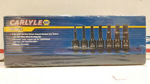 Carlyle Napa 61 0214 7pc 3 8 Dr Hex Driver Impact Socket Set Metric New